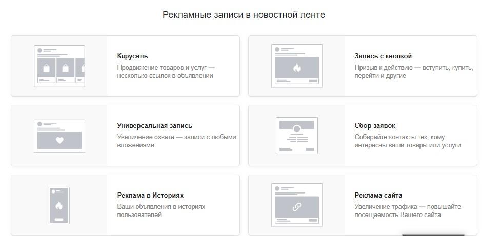 реклама в вк, виды рекламы в интернете