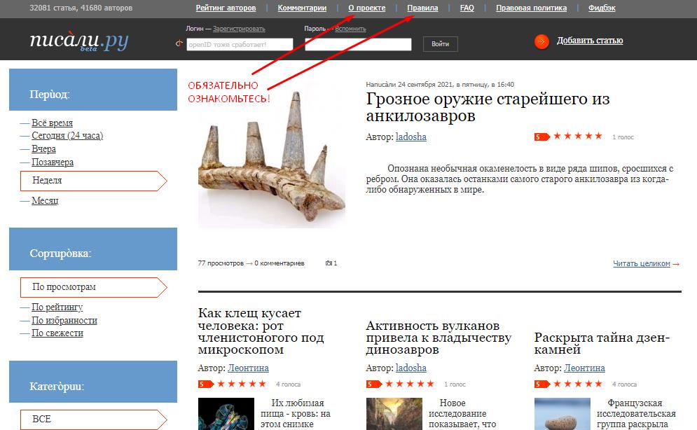 продвижение сайта в интернете через каталог статей
